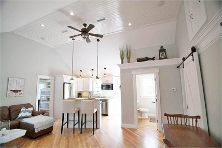 West Yarmouth Cape Cod vacation rental - Fabulous open kitchen & living area w/ vaulted ceilings.