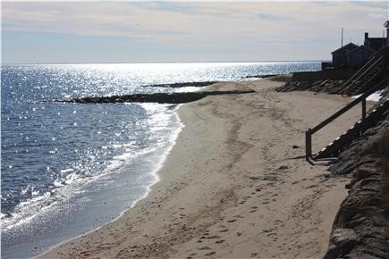 Mashpee Cape Cod vacation rental - ''Your beach'' alternate view in the evening