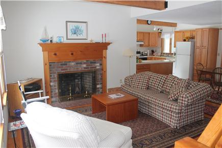 Eastham Cape Cod vacation rental - Cathedral living room