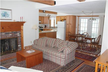 Eastham Cape Cod vacation rental - Living room is open to dining room and kitchen
