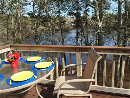 West Yarmouth Cape Cod vacation rental - Outdoor dining for 6 on main deck