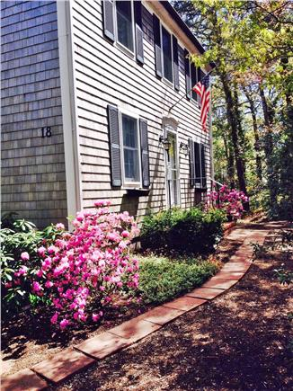 West Yarmouth Cape Cod vacation rental - Front path and entrance