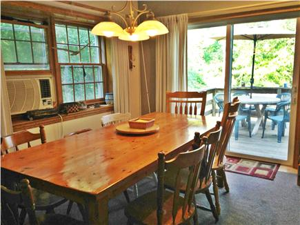 Harwich Cape Cod vacation rental - Dining Room w/AC & sliders to the deck