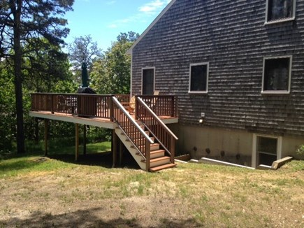 Wellfleet Cape Cod vacation rental - Can access deck thru these stairs or sliders in the living room