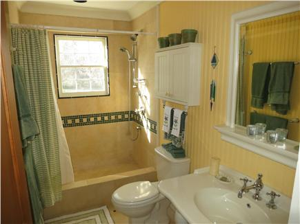 Brewster Cape Cod vacation rental - First floor bathroom--shower with a warm breeze