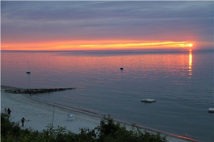 Brewster Cape Cod vacation rental - Spectacular sunsets from the deck