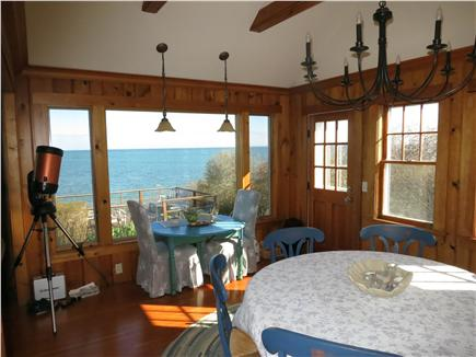 Brewster Cape Cod vacation rental - Dining room with water views