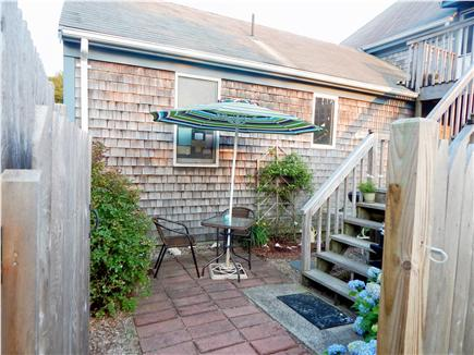 West Chatham Cape Cod vacation rental - Patio/cafe table/BB-Q area/space for kayaks/bikes