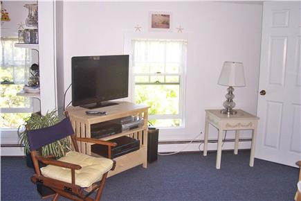 West Chatham Cape Cod vacation rental - Light and bright sitting area w/flat screen tv/ceiling fan