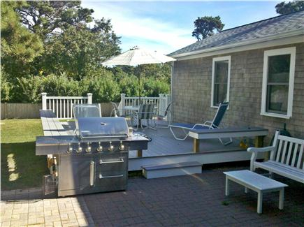 Chatham Cape Cod vacation rental - Fantasic - all around bench deck with gas grill and firepit