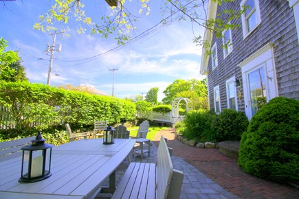 Chatham Cape Cod vacation rental - Outdoor dining, lounging, firepit (wood incl.)