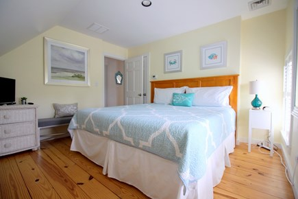 Chatham Cape Cod vacation rental - Light filled king master with TV and cable