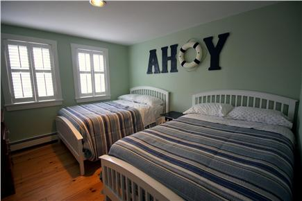 Chatham Cape Cod vacation rental - The ''Ahoy'' room - 2 doubles w/ TV (Cable)