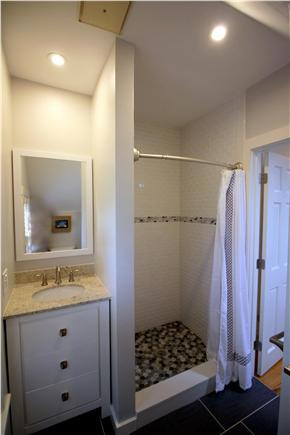 Chatham Cape Cod vacation rental - Upstairs full bathroom with oversized shower renovated Fall 2015