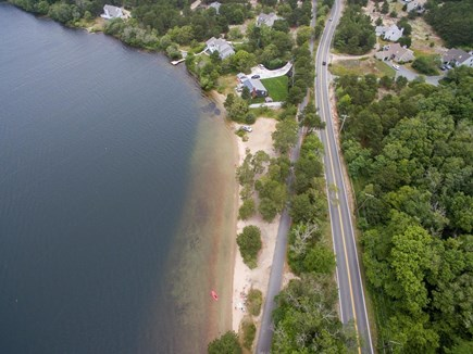 Harwich Cape Cod vacation rental - Shows beach across the street at Seymour Pond
