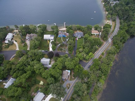 Harwich Cape Cod vacation rental - Long Pond small beach towards top right - Seymour Pond bottom R
