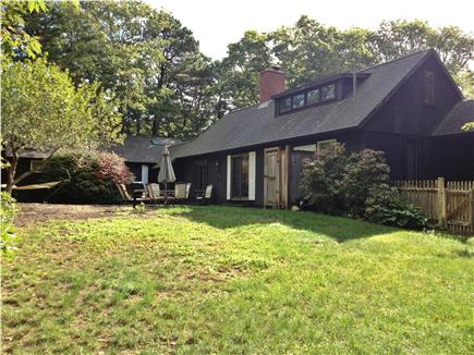 New Seabury, Mashpee New Seabury vacation rental - Rear view of home, patio & lawn