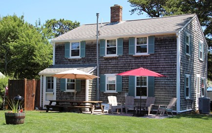 Dennisport Cape Cod vacation rental - Large landscaped backyard, outdoor shower & Patio with ocean view