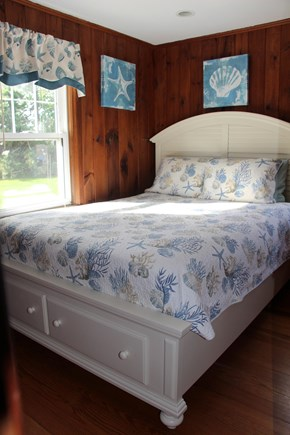 Dennisport Cape Cod vacation rental - First floor master bedroom w/ queen bed. Linens provided.