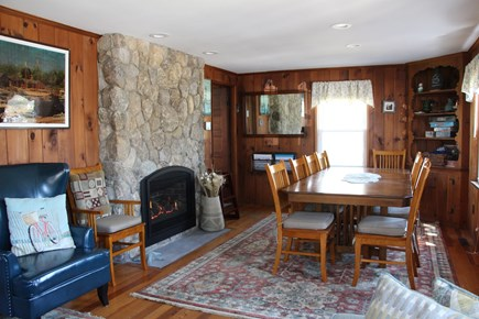 Dennis Port Cape Cod vacation rental - Natural gas fireplace. Open dining room for the whole family.