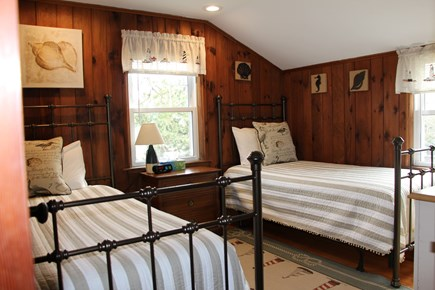 Dennis Port Cape Cod vacation rental - Upstairs bedroom #1 with ocean view. Linens provided.