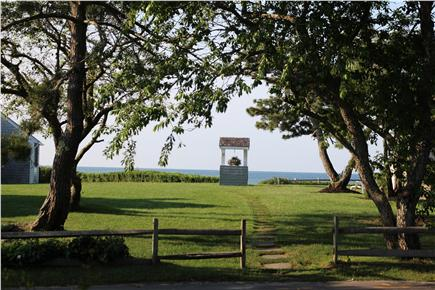 Dennis Port Cape Cod vacation rental - Pretty path & steps to the Private Nantucket Sound beach