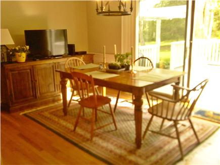 East Sandwich, MA Cape Cod vacation rental - Dining area with walk out deck
