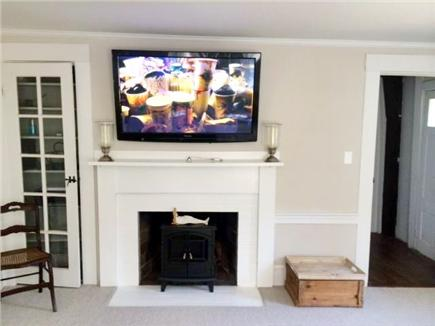 North Falmouth Cape Cod vacation rental - Living Room boasts a flat screen TV with cable and Apple TV