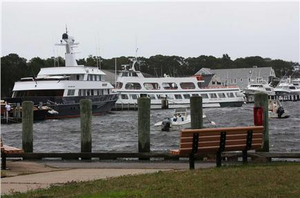 Falmouth Cape Cod vacation rental - Boats and Martha's Vineyard Ferry in Harbor (in front of resort)
