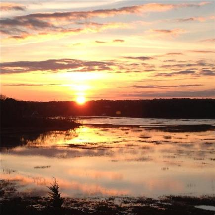 Truro Cape Cod vacation rental - Sunrise from the deck overlooking the Pamet Harbor