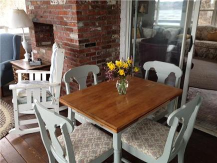 Truro Cape Cod vacation rental - Our expandable dining table for extra dinner guests