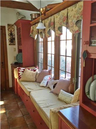Sandwich Cape Cod vacation rental - In-kitchen window seat - read, watch the birds, daydream