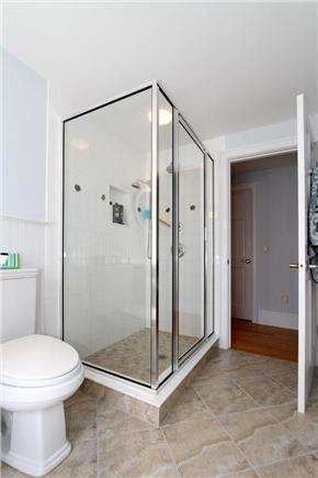 Orleans Cape Cod vacation rental - Guest Bathroom located in room with 2 double beds