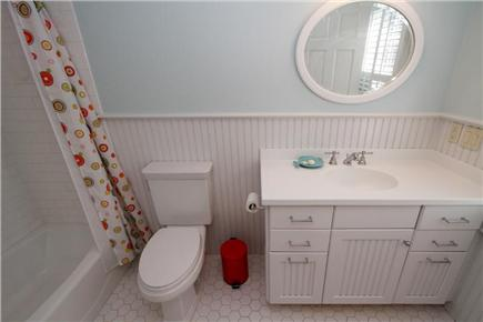 Orleans Cape Cod vacation rental - Guest bathroom attached to room with double bed