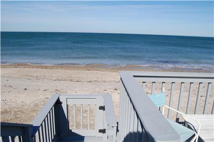 Plymouth, Manomet MA vacation rental - View from the deck- stairs lead down to the beach