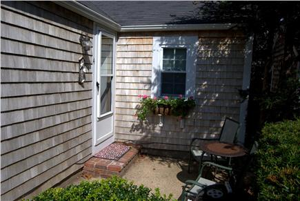 Yarmouth Port Cape Cod vacation rental - Small patio for BBQing.