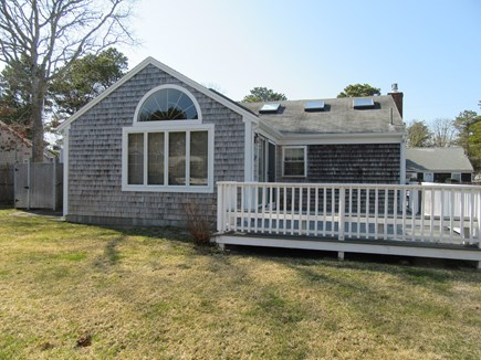 Dennis Port Cape Cod vacation rental - Rear view of home w/large wrap around deck