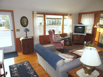 Dennis Port Cape Cod vacation rental - Enter the fireplaced living room