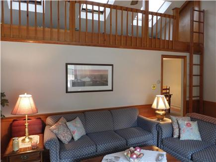 Dennis Port Cape Cod vacation rental - Alternate view of living room with doorway to dining ...