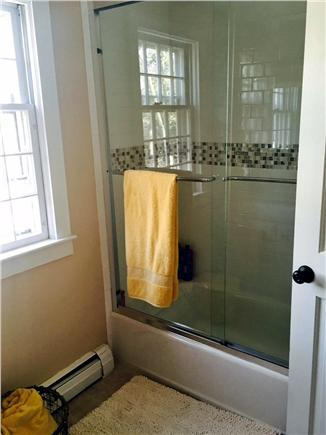 Brewster on Orleans border Cape Cod vacation rental - Full bath with tile flooring, new shower/tub combo second floor