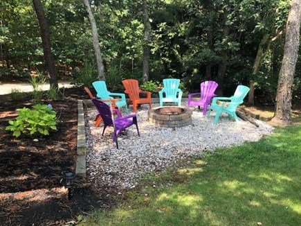 Brewster on Orleans border Cape Cod vacation rental - Outdoor fire pit for an enjoyable evening under the stars!