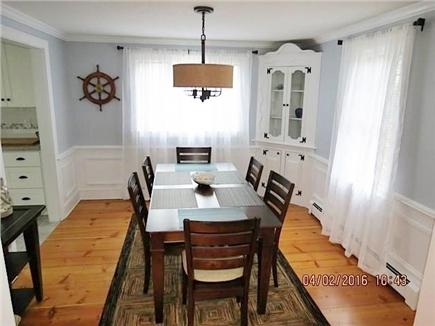 Brewster on Orleans border Cape Cod vacation rental - Dining room with seating for 8 plus high-top table in family room