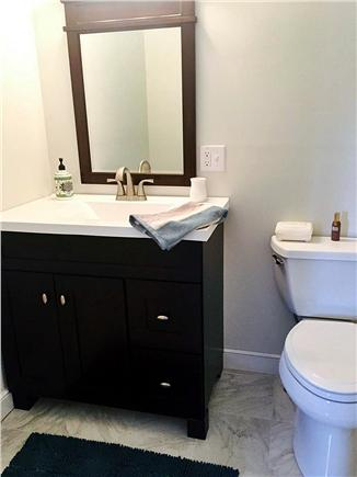 Brewster on Orleans border Cape Cod vacation rental - Half bath with marble floors in king bedroom upstairs