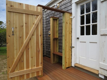 North Chatham Cape Cod vacation rental - Brand New, Private, Cedar and Mahogany Outdoor Shower - May 2017