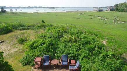 North Chatham Cape Cod vacation rental - Patio, Marsh, Beach, and Pleasant Bay - 2017