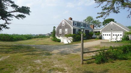 North Chatham Cape Cod vacation rental - South West View of House, Yard and Water - 2017