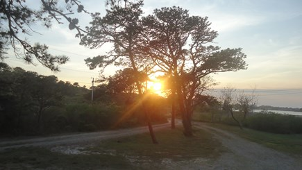 North Chatham Cape Cod vacation rental - Sunset over Property - June 2016