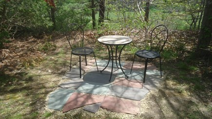 North Chatham Cape Cod vacation rental - New Patio with Morning Tea and Coffee Table - June 2018