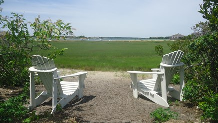 North Chatham Cape Cod vacation rental - Adirondacks by Additional Private Beach on Marsh - June 2018