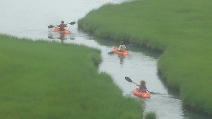 North Chatham Cape Cod vacation rental - Kids Kayaking in the Adjacent Marsh - July 2019